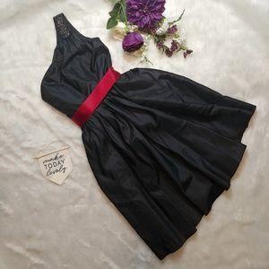 David's Bridal Black Bridesmaid Dress with Beading